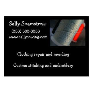 Gray thread business card