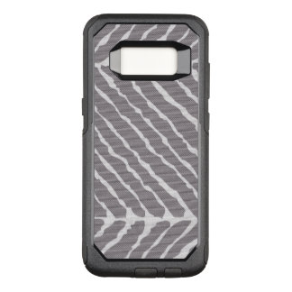 Gray Tiger Stripes Canvas Look OtterBox Commuter Samsung Galaxy S8 Case