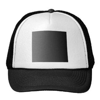 Gray to Black Vertical Gradient Mesh Hats