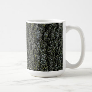 Gray Tones Rustic Wood Bark Print Basic White Mug