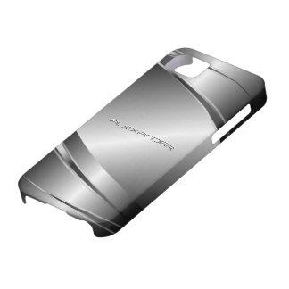 Gray Tones Stainless Steel Metalli Look- Monogram Case For The iPhone 5