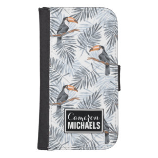 Gray Toucan | Add Your Name Samsung S4 Wallet Case