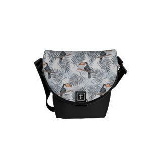 Gray Toucan Messenger Bag