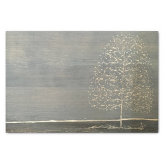 Gray Tree Tissue Paper