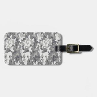 Gray Urban Camo Luggage Tag