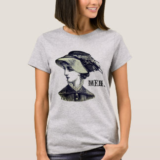 "Gray Victorian Lady ""Meh"" T-Shirt"