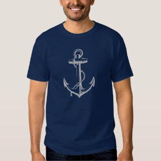 Gray Vintage Anchor Illustration Tshirts