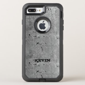 Gray Vintage Grungy Texture Print OtterBox Defender iPhone 7 Plus Case