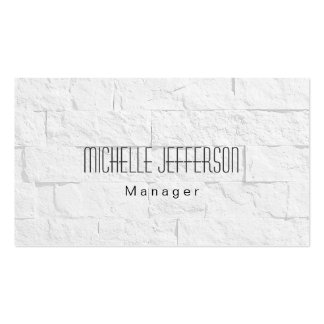 Gray Wall Brick Pattern Manager Business Card