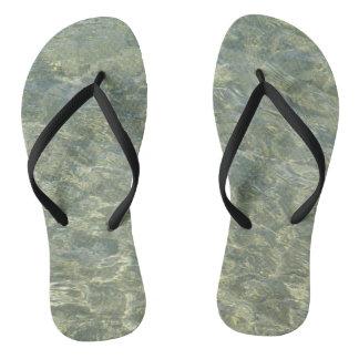 Gray water flip flops