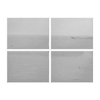 Gray Water, Fog and Rain Landscape Canvas Prints