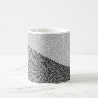Gray Wave Contours Basic White Mug