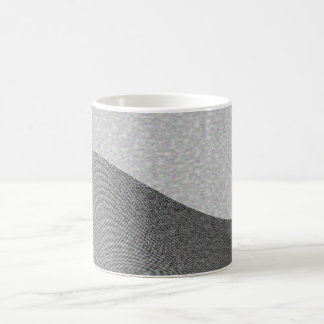Gray Wave Contours Coffee Mug