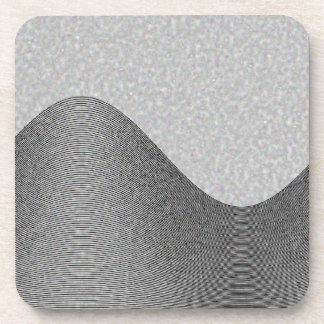 Gray Wave Contours Drink Coasters