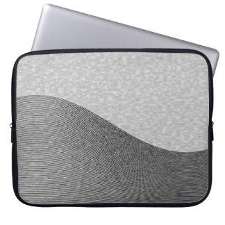 Gray Wave Contours Laptop Computer Sleeve