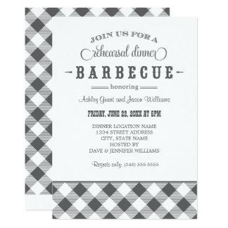 Gray Wedding Rehearsal Dinner   Casual BBQ 13 Cm X 18 Cm Invitation Card