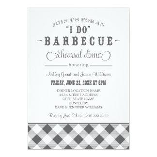 Gray Wedding Rehearsal Dinner | I Do BBQ 13 Cm X 18 Cm Invitation Card