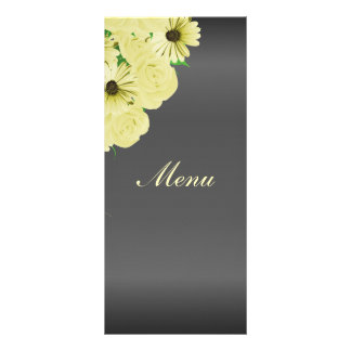 Gray Wedding Satin and Pastel Yellow - Menu