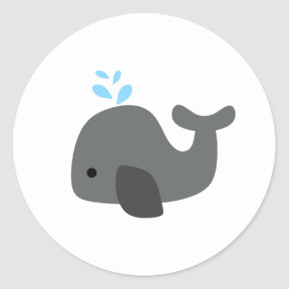 Gray Whale Classic Round Sticker