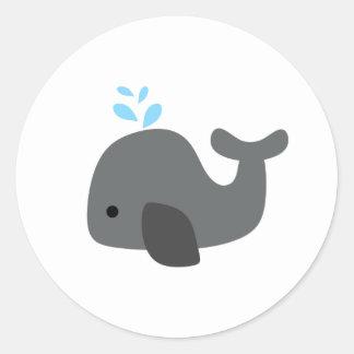 Gray Whale Classic Round Sticker