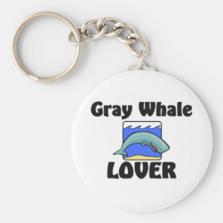 Gray Whale Lover Key Ring