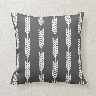Gray White Arrow Designs Cushion