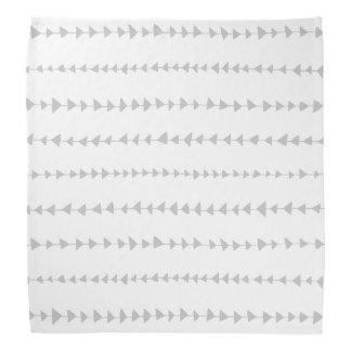 Gray White Aztec Arrows Pattern Bandana