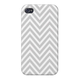 GRAY WHITE CHEVRON PATTERN iPhone 4 CASES