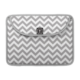 Gray White Chevron Pattern Sleeves For MacBooks