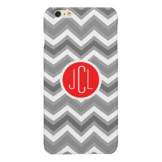 Gray & White Chevron Zigzag Geometric Pattern iPhone 6 Plus Case