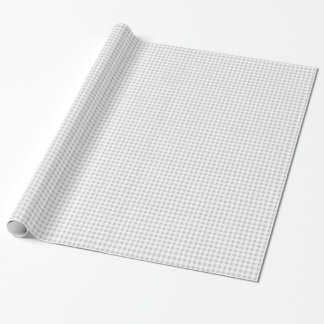 Gray White Gingham Pattern Wrapping Paper