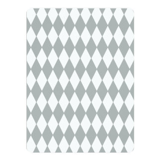 Gray White Harlequin Pattern Announcements