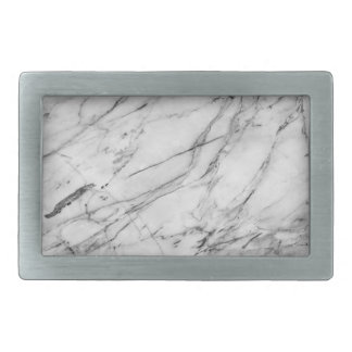 Gray & White Marble Design Belt Buckle