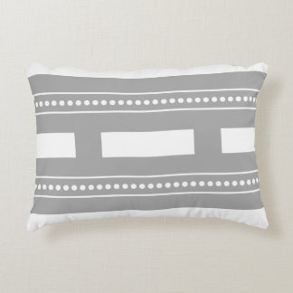 Gray & White Modern Graphic Striped Throw Pillow