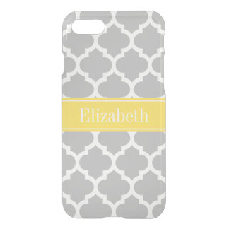 Gray White Moroccan #5 Pineapple Name Monogram iPhone 8/7 Case