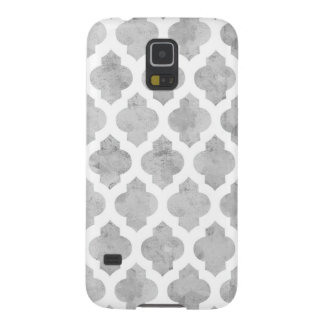 Gray & White Moroccan Quatrefoil Galaxy S5 Case