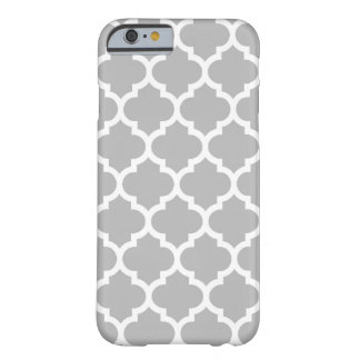 Gray White Moroccan Quatrefoil Pattern #5 Barely There iPhone 6 Case