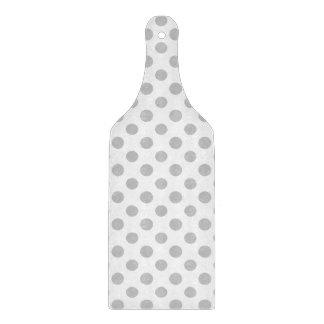 Gray White Polka Dots Pattern Cutting Board