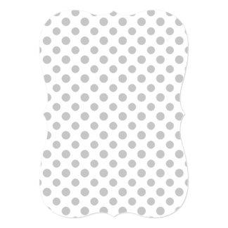 Gray White Polka Dots Pattern 13 Cm X 18 Cm Invitation Card