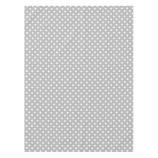 Gray White Polka Dots Pattern Tablecloth