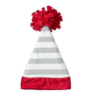 Gray & White Stripes Custom | Santa Hat