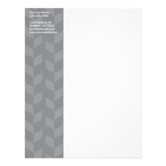 Gray white weave customizable personal letterhead 21.5 cm x 28 cm flyer
