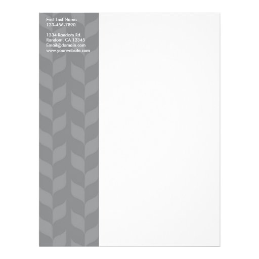 Gray white weave customizable personal letterhead custom flyer