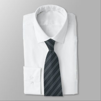 Gray with Double Pin Stripes Tie