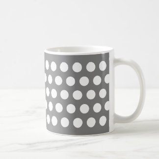 Gray with Polka Dots Coffee Mug