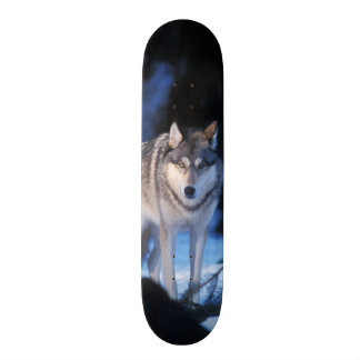 gray wolf, Canis lupus, in the foothills of the 3 Custom Skate Board