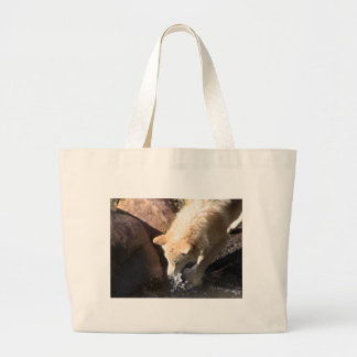 Gray Wolf Canvas Bag