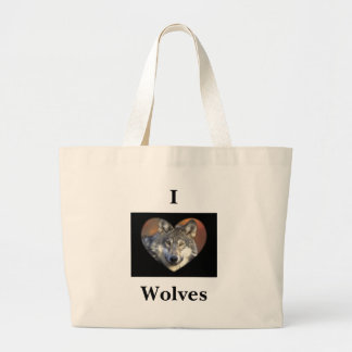 Gray Wolf Canvas Bags