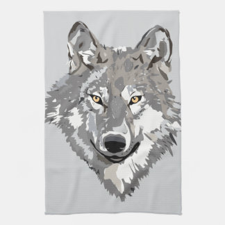 Gray Wolf Design Tea Towel