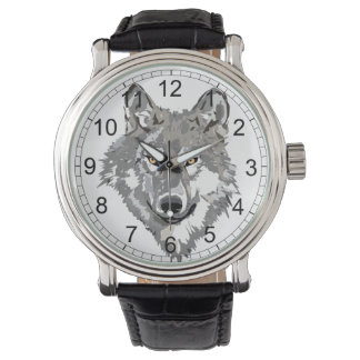 Gray Wolf Design Watch